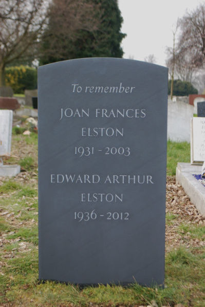traditional headstone in slate