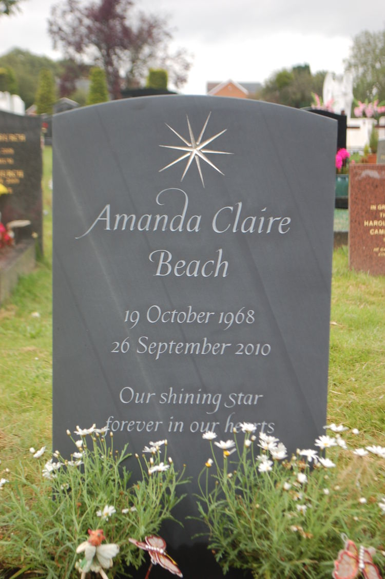 slate bespoke headstone with a star