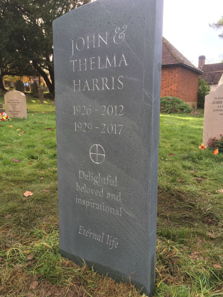 bespoke headstone in slate
