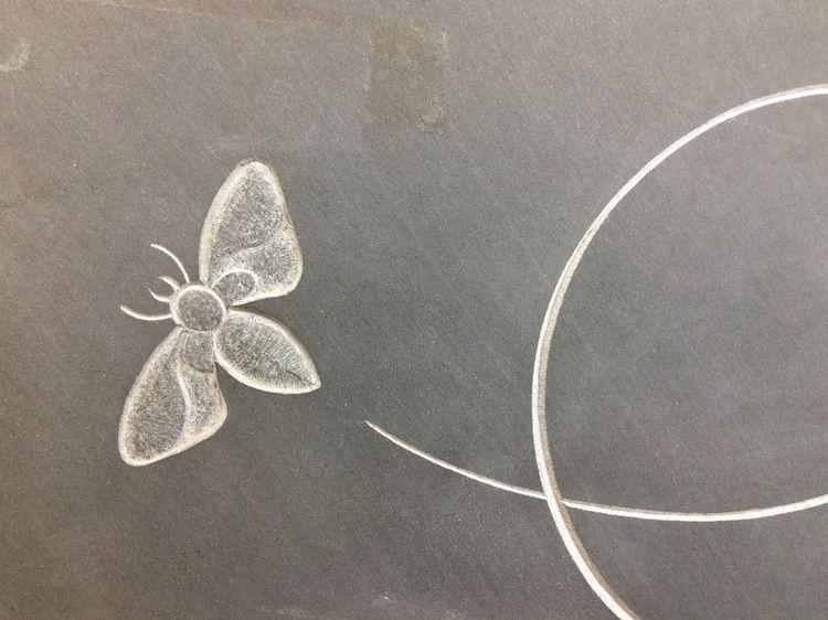 butterfly on headstone