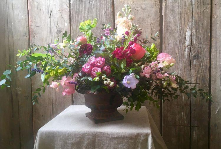 table flower arrangement for funerals