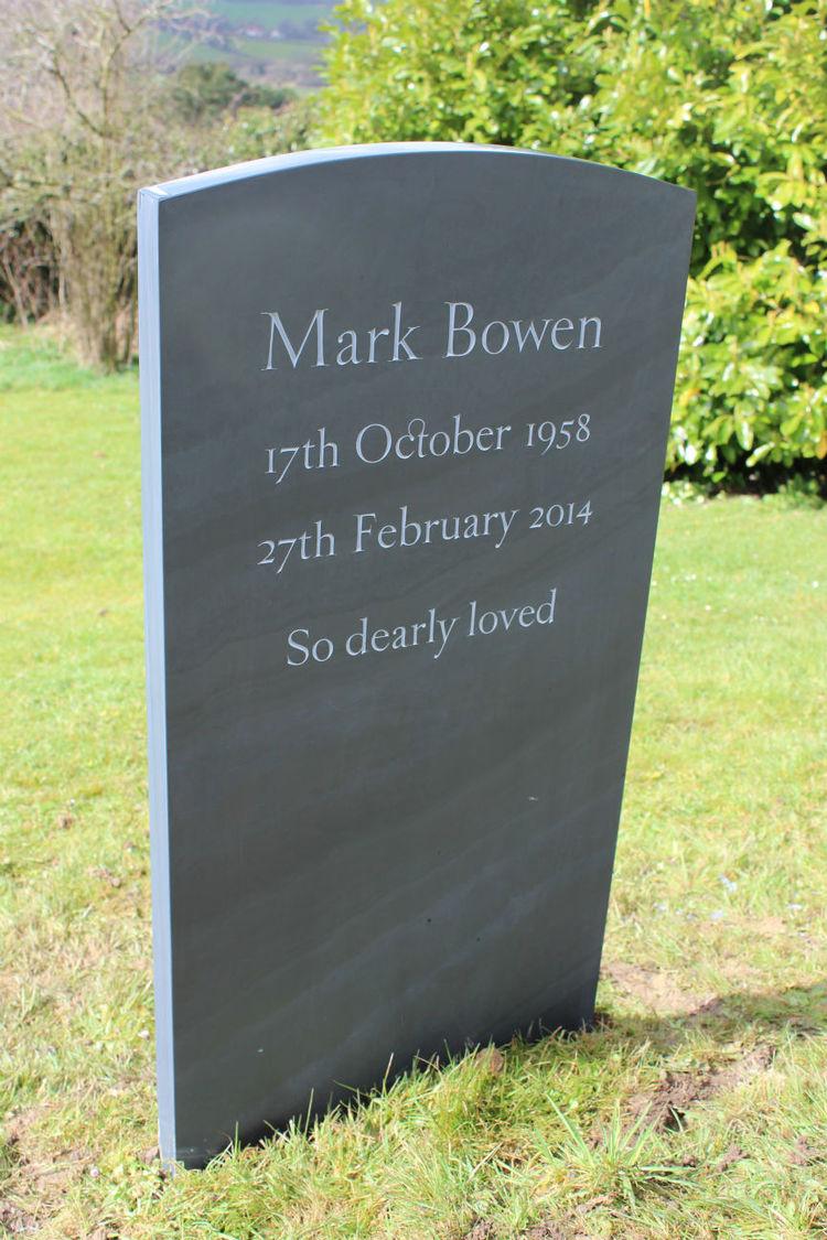 simple slate headstone