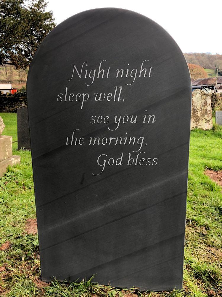 Epitaph on slate