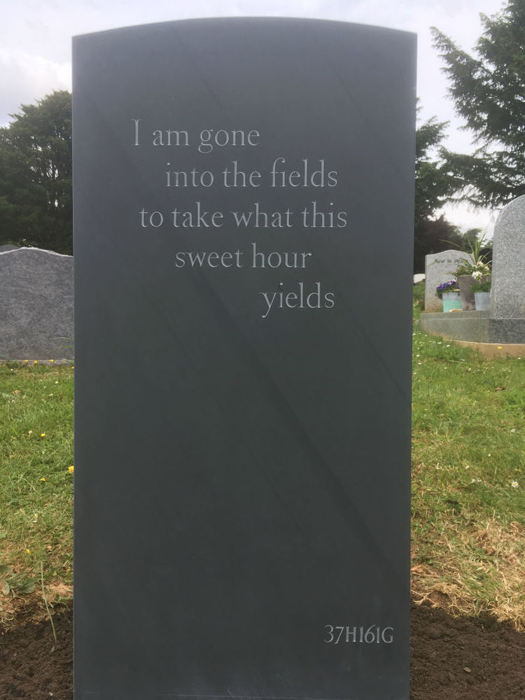 epitaph on back of headstone
