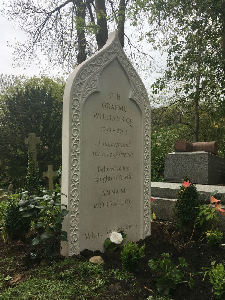 bespoke memorial in highgate