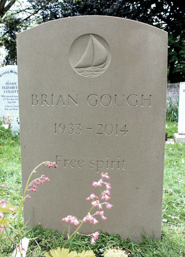 Bespoke headstone with boat