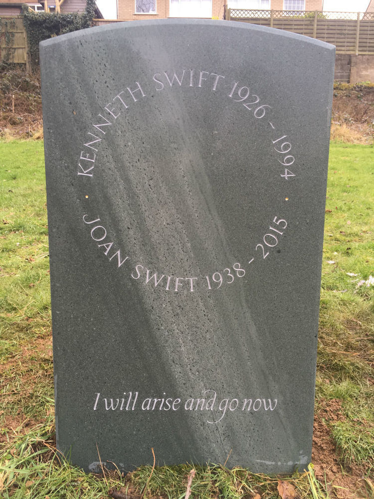 Slate headstone bespoke