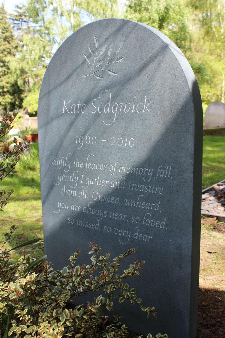 headstone wording on slate