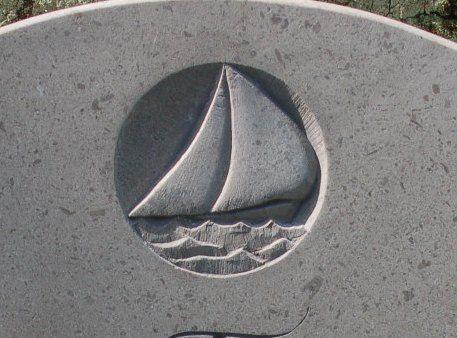 Headstone symbol boat