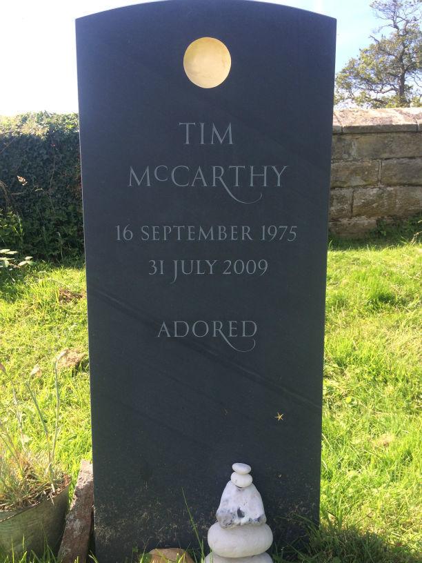 Slate bespoke headstone