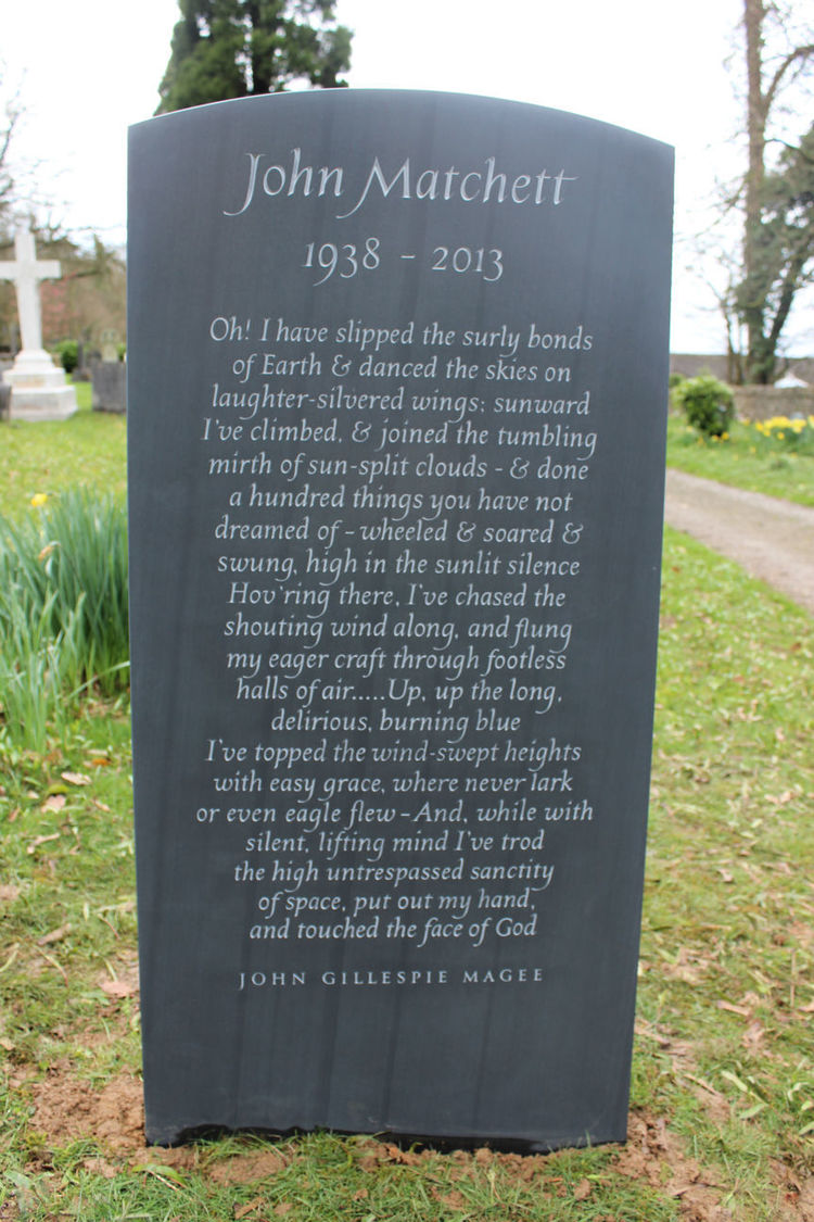 Slate headstone with long epitaph