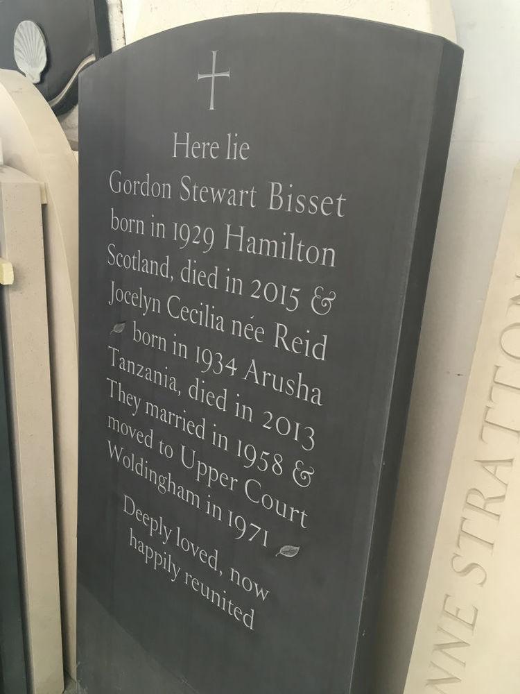 unique headstone in slate
