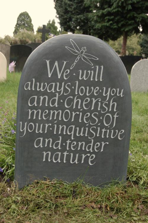 Headstone unique for a child