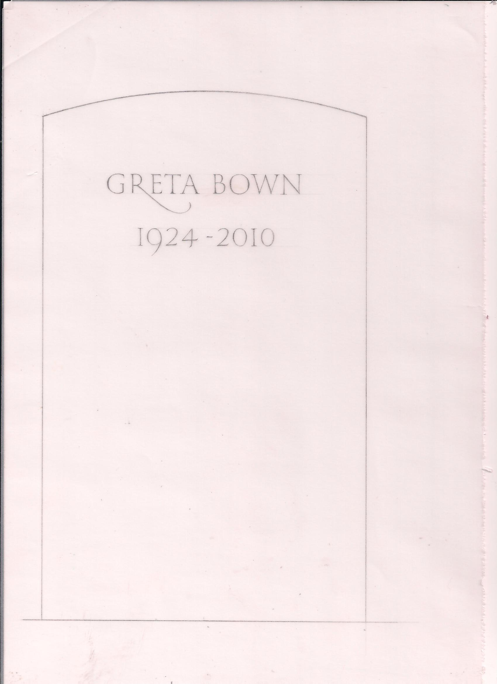 simple headstone design