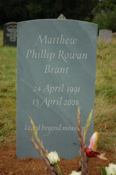 child headstone in green slate