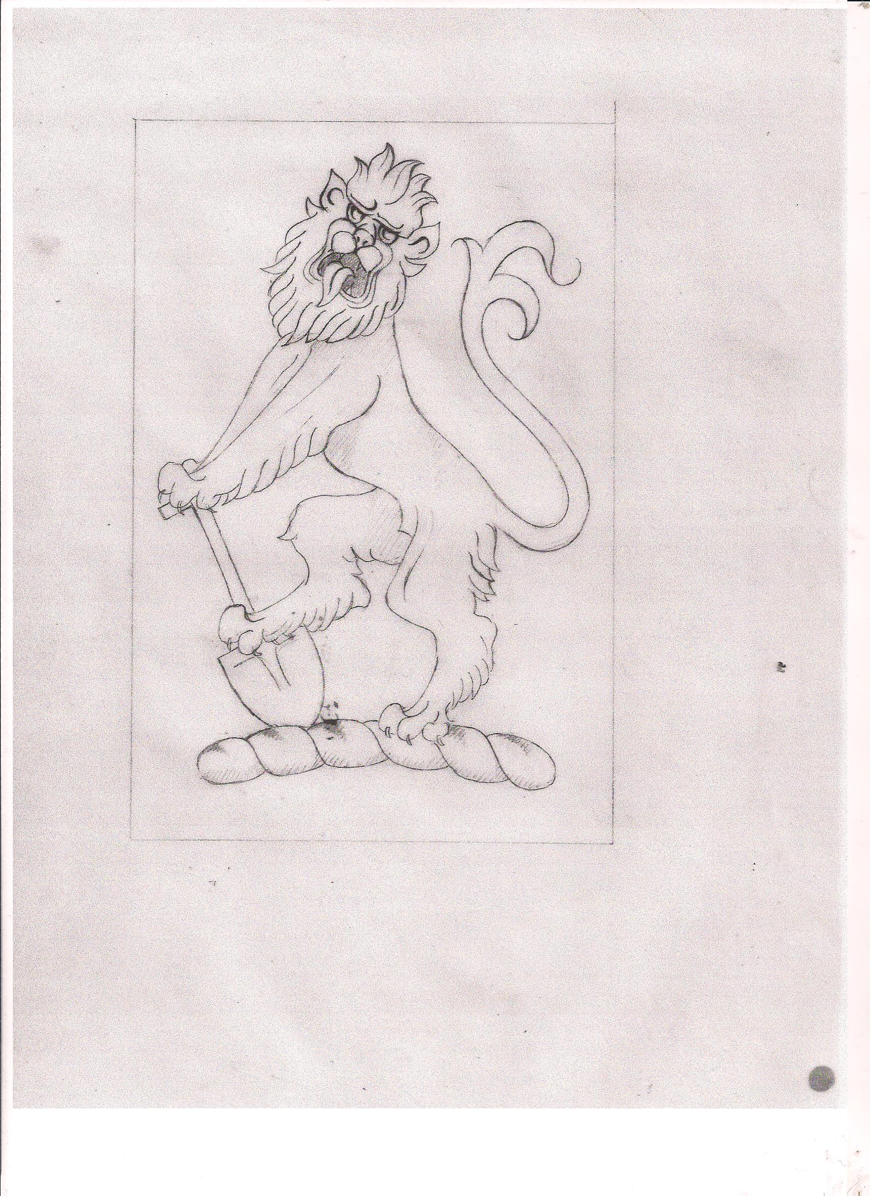 design for crest in stone