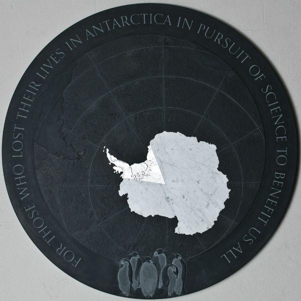 antarctic memorial plaque