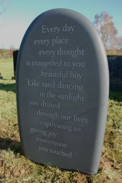pebble headstone