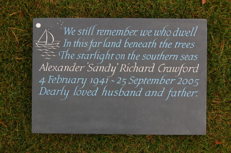 bespoke cremation tablet