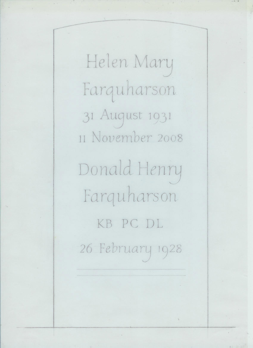 headstone design on paper