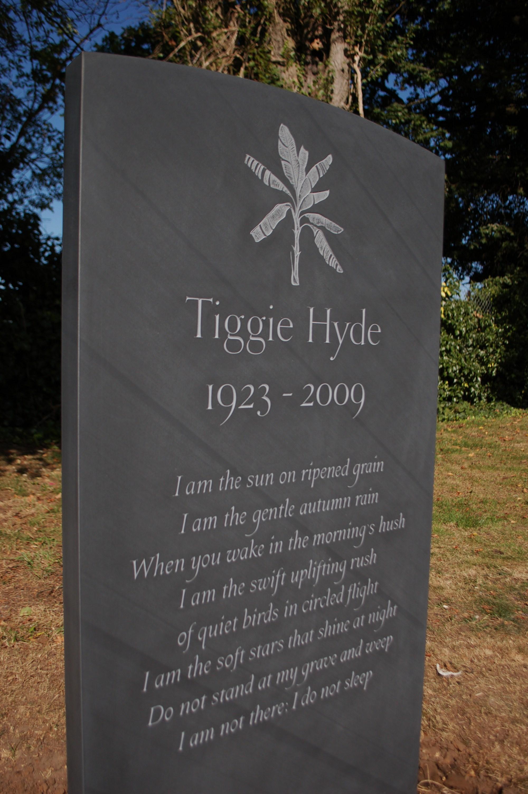 poem on gravestone