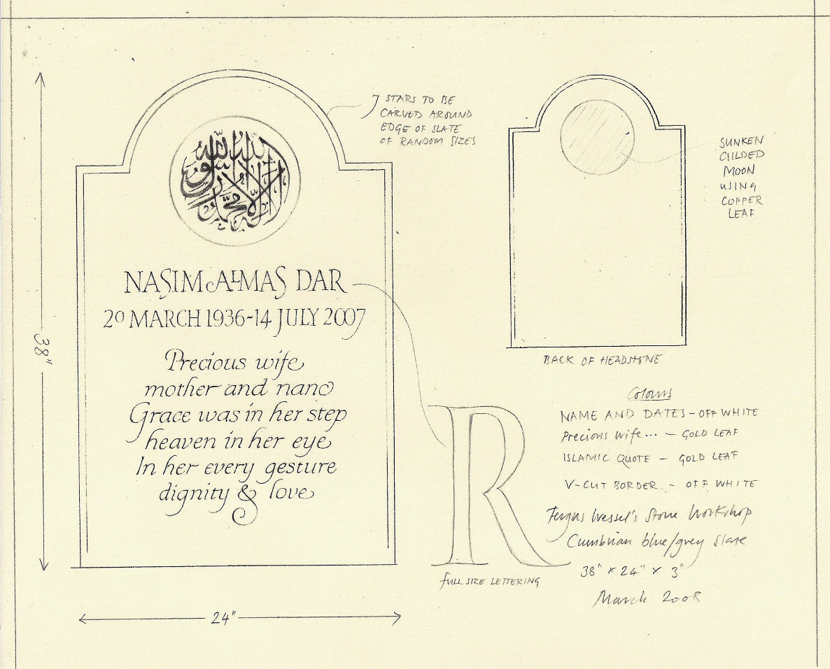 design for a gravestone
