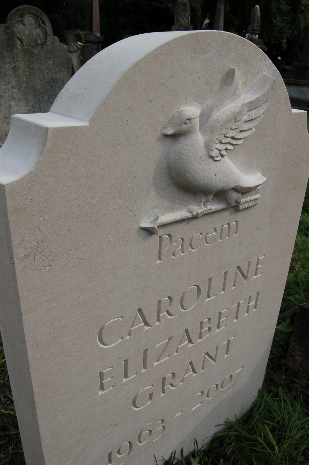 headstone in kensal green cemetery, london