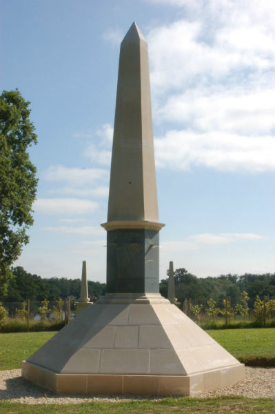 obelisk sundial at Buscot Park