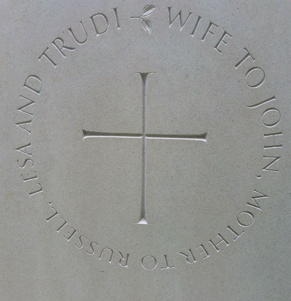 cross symbol on headstone