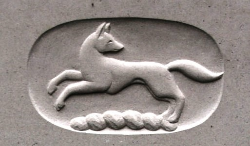 fox symbol on gravestone