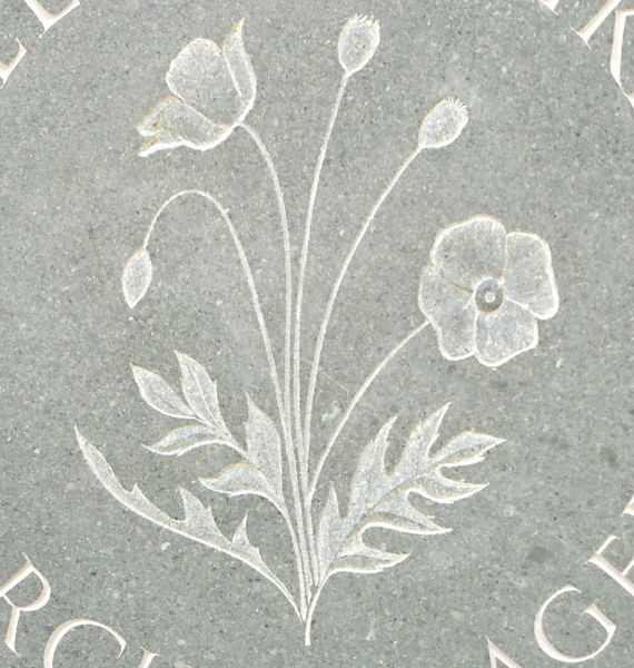 poppy gravestone symbol