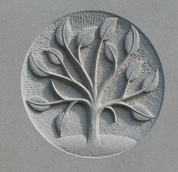 gravestone symbol of tree